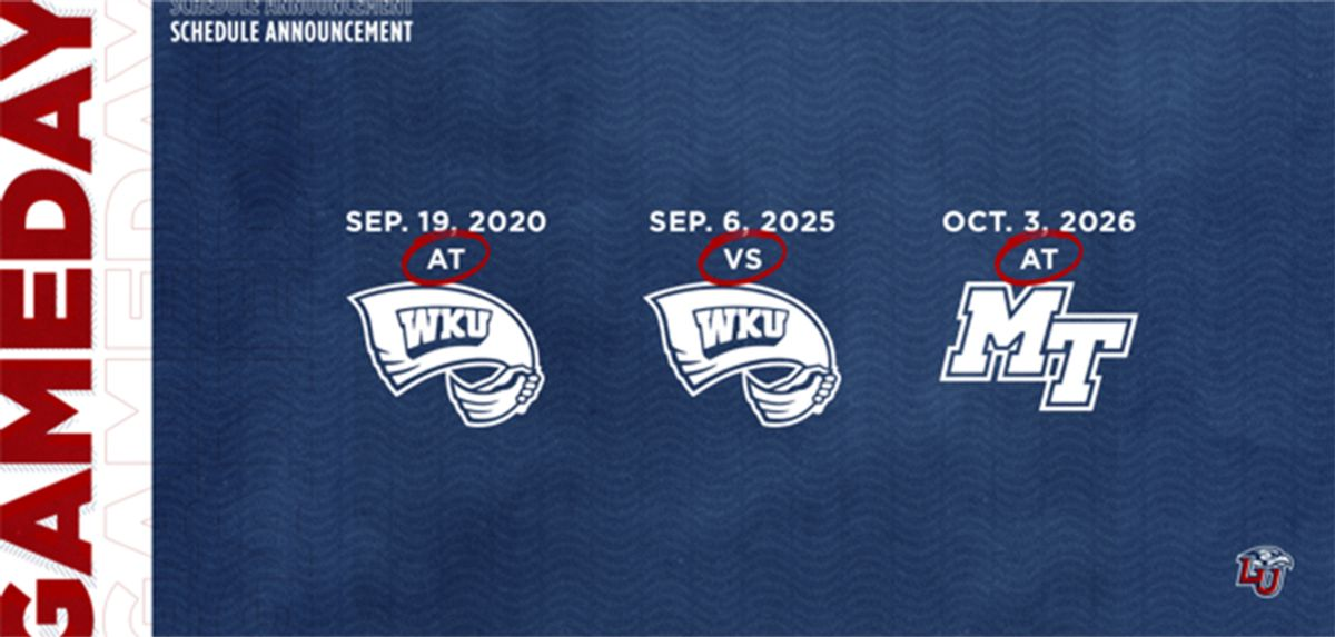 Liberty Announces Games with Western Kentucky and Middle Tennessee