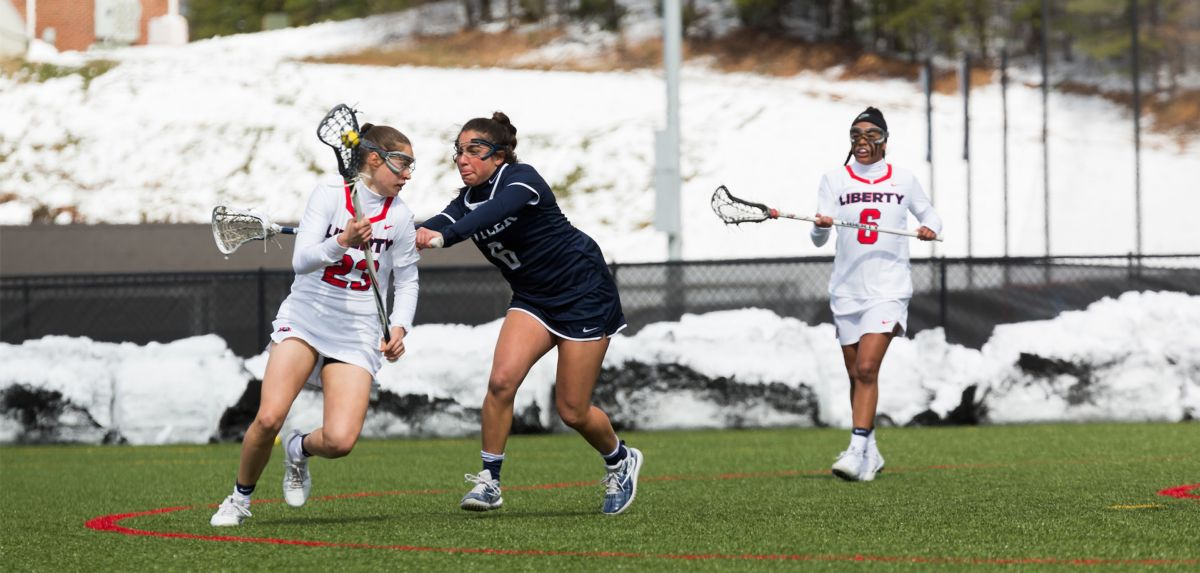 Foster's three-goal, two-assist game on Tuesday helped Liberty to a 17-8 win over visiting Butler.