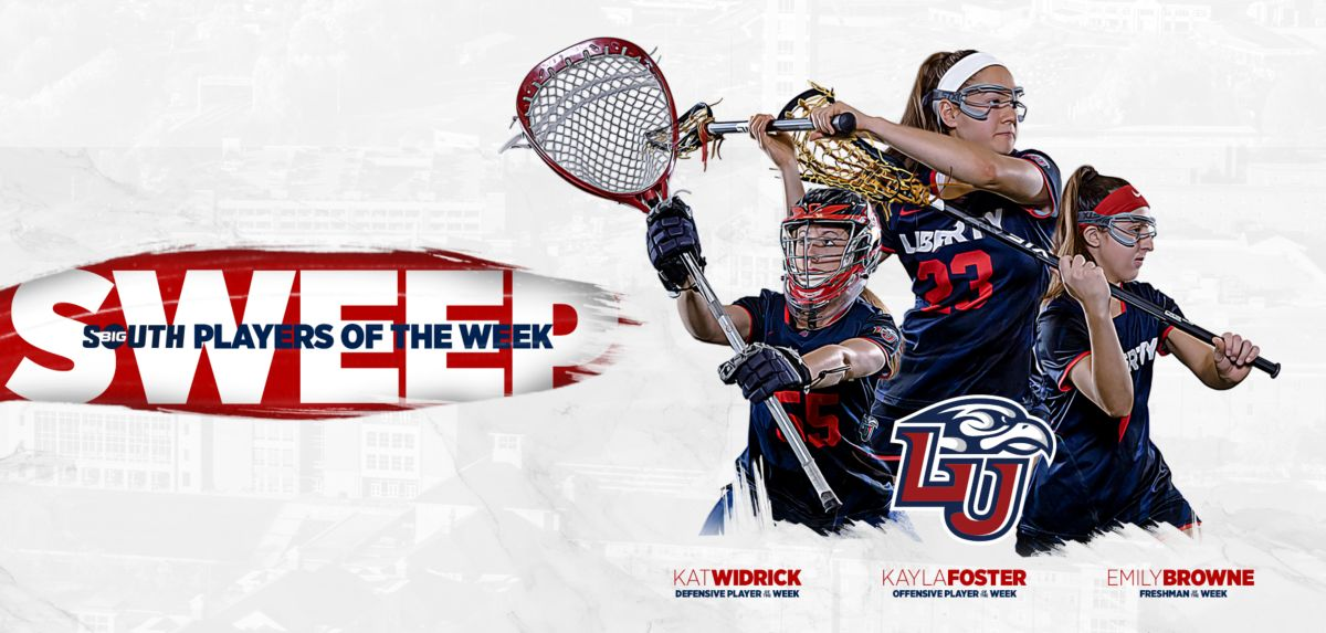 Foster is this week's Big South Offensive Player of the Week, while junior goalkeeper Widrick has been named the Defensive Player of the Week. The Lady Flames' midfielder Browne is the Big South Freshman of the Week.