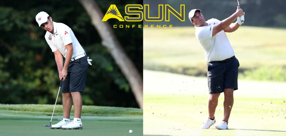 After leading the Flames to a team victory and individually capturing medalist honors, Alexandre Fuchs (left) and Gabe Lench (right) have been named this week's ASUN Men's Golfers of the Week.