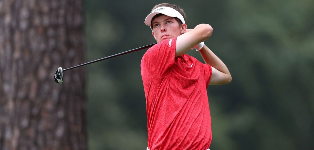 Jonathan Yaun is tied for 13th place after a 2-under par 70, matching the lowest 18-hole total of his freshman season.