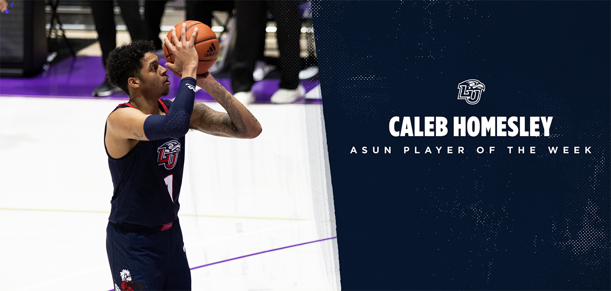 Caleb Homesley has been named the ASUN Player of the Week.