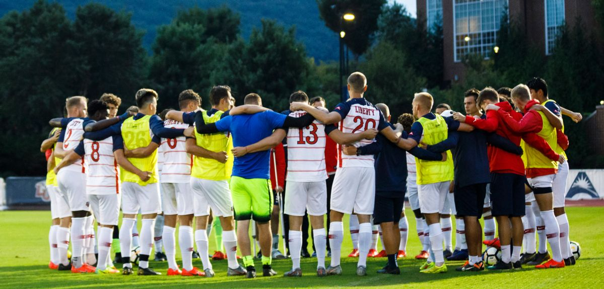 Liberty Men's Soccer Earns United Soccer Coaches Team Academic Award