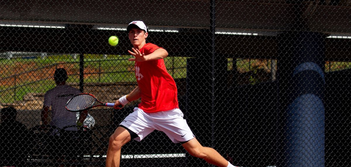 Wilson won his singles match on Friday and also claimed three doubles match in the afternoon with his partner, Nicaise Muamba.