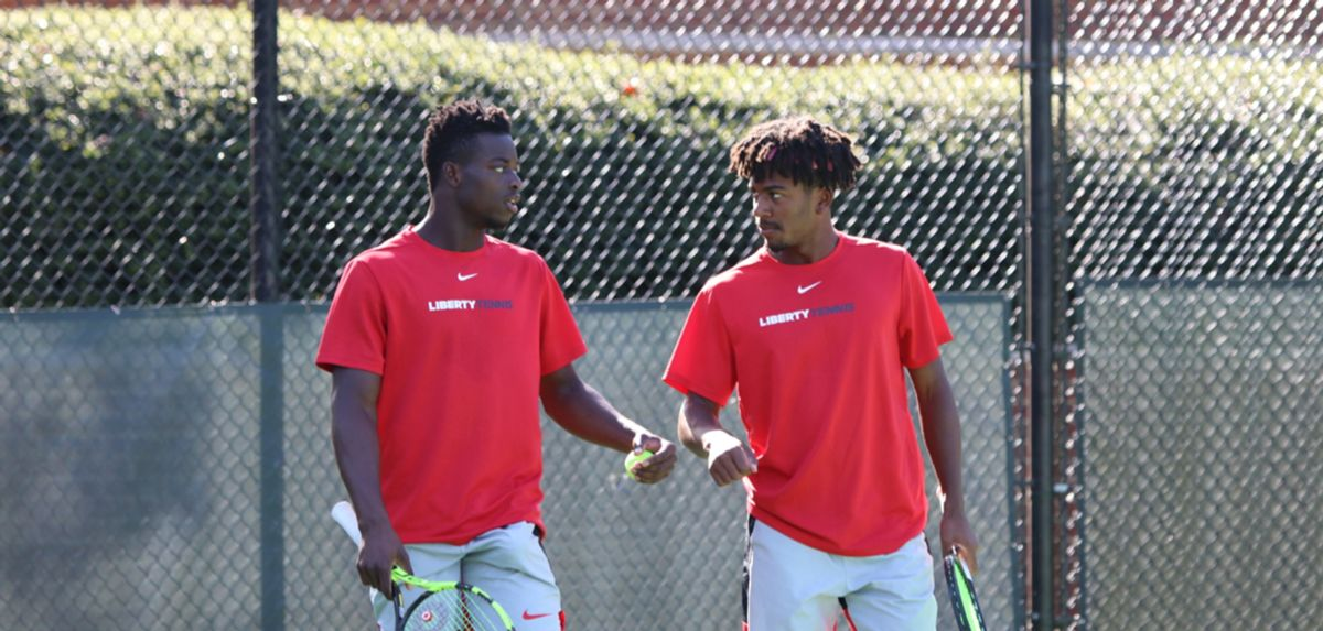 Muamba (left) and Thomas-Smith (right) finished runner-up in the doubles main draw of the ITA Atlantic Regional.