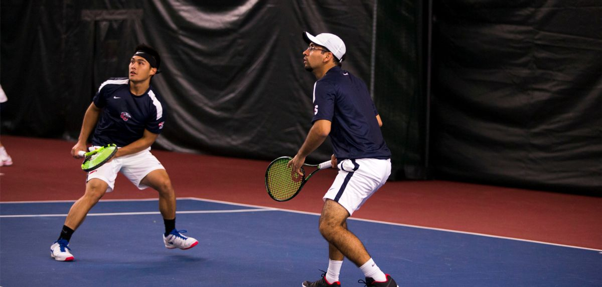 Salas (left) and Gutierrez (right) lead the Big South with a 5-0 doubles record.