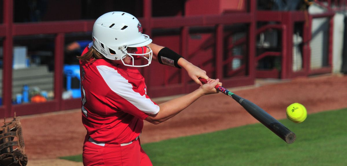 Amber Bishop hit her second home run of the day, Friday against Notre Dame.