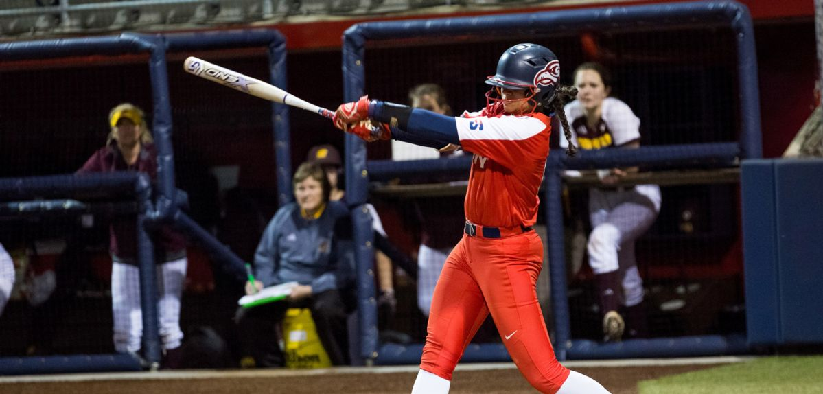 Madison Via went 2-for-3 with her first career home run, Friday against Marshall.