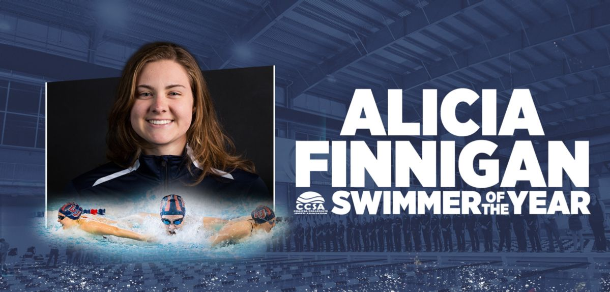Alicia Finnigan was named CCSA Women's Swimmer of the Year.