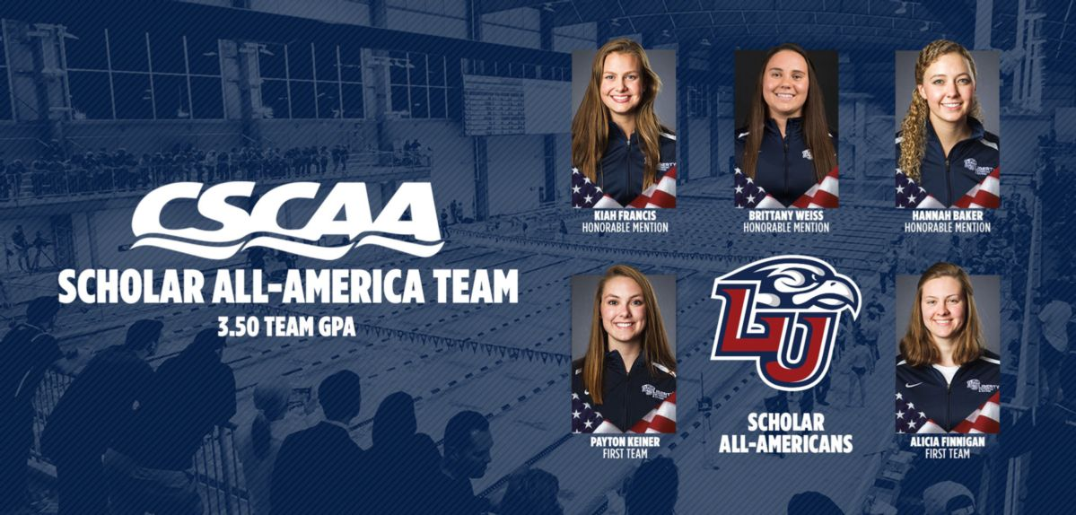 Liberty Swimming & Diving Earns CSCAA Scholar All-America Team Distinction
