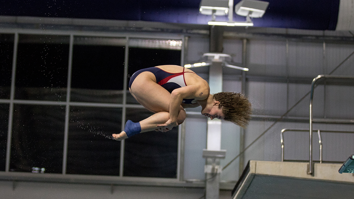 Abigail Egolf-Jensen was named CCSA Diver of the Week.