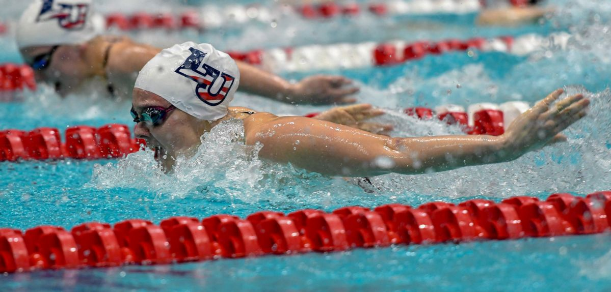 Alicia Finnigan swam a program and conference-record 1:55.33 in the 200 fly on Saturday.