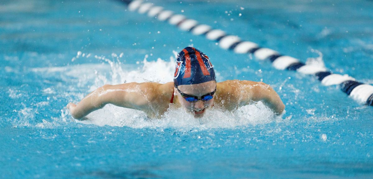 Lindsey Cohee won the 100 fly on Saturday at Campbell.