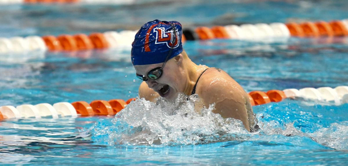 Mikayla Herich won the 200 IM for the second year in a row at the CCSA Championships, doing so in program-record time.