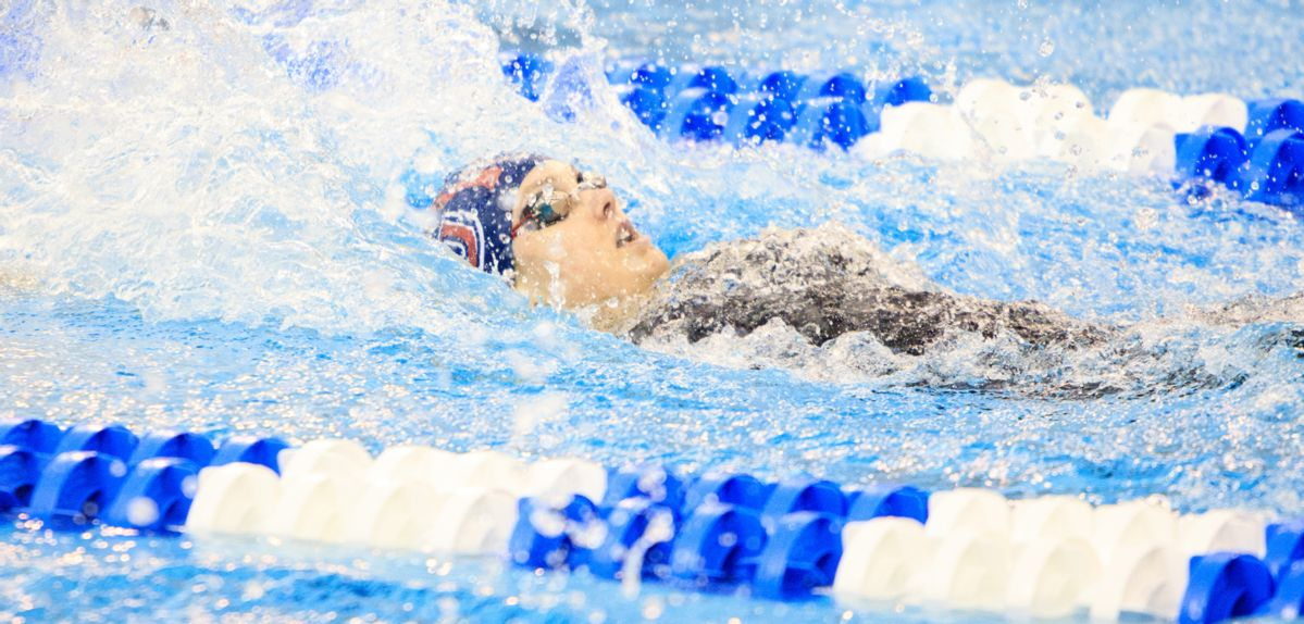 Payton Keiner made her NCAA nationals debut, placing 46th in 100 backstroke qualifying on Friday.