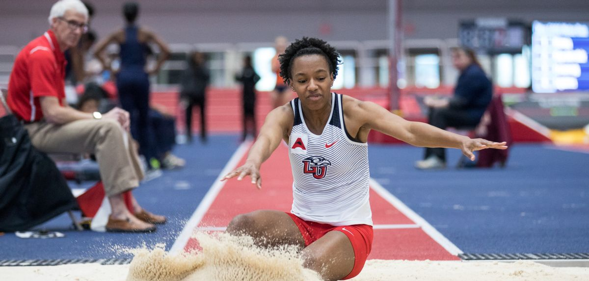 Ayanna Johnson posted victories in the women's 100 and long jump on Saturday.