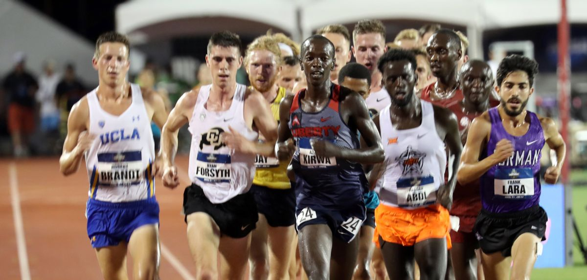 Azaria Kirwa placed 8th in the NCAA men's 10K final on Wednesday. (Photo by Kim Spir)