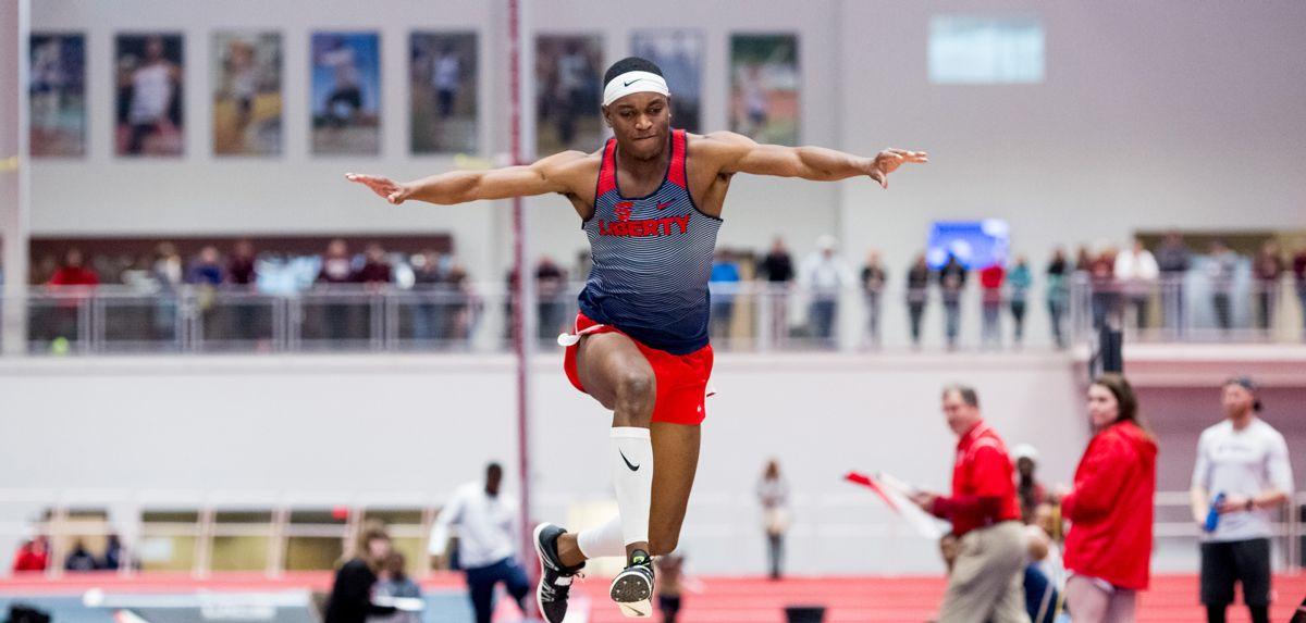 Darrel Jones boosted his Liberty men's indoor triple jump record to 51-0 on Sunday.