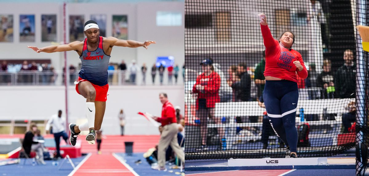 Big South Field Athletes of the Week Darrel Jones (left) and Naomi Mojica (right)