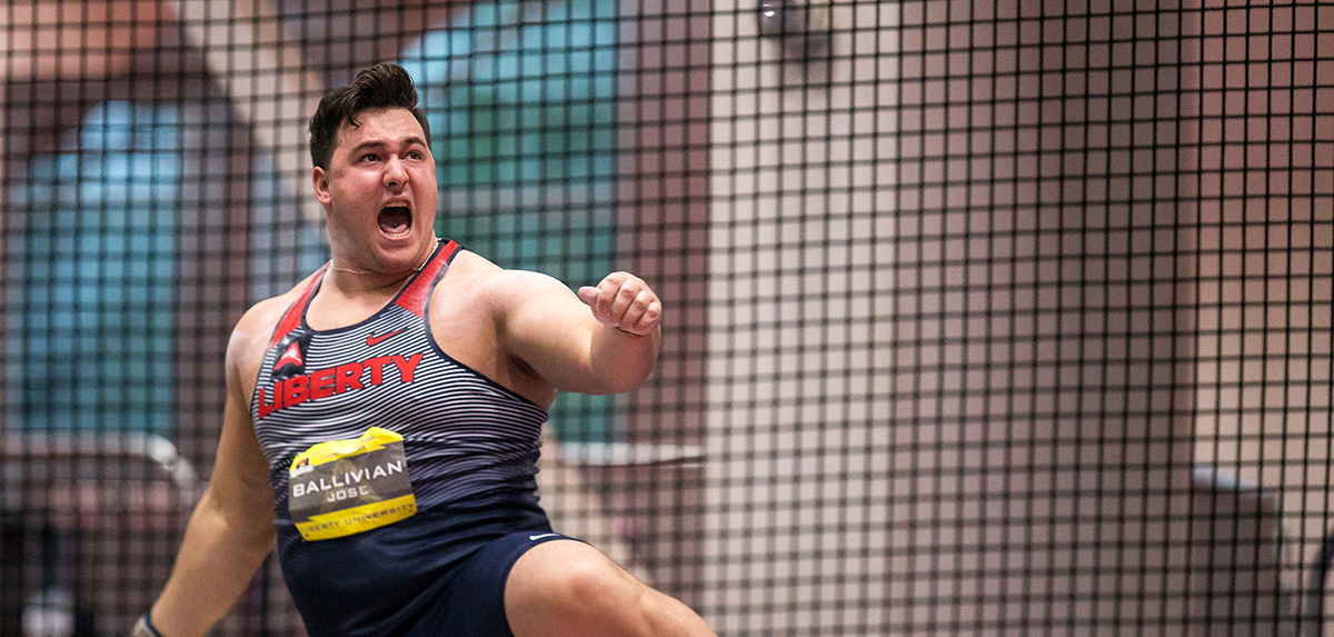 Jose Ballivian will be part of a competitive men's shot put field Saturday afternoon at the Liberty Kickoff.