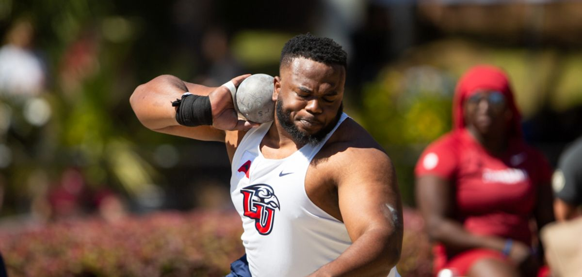 First-year Flame Kyle Mitchell threw a personal-best 59-2.75 to win the Bobcat Invitational men's shot put crown.