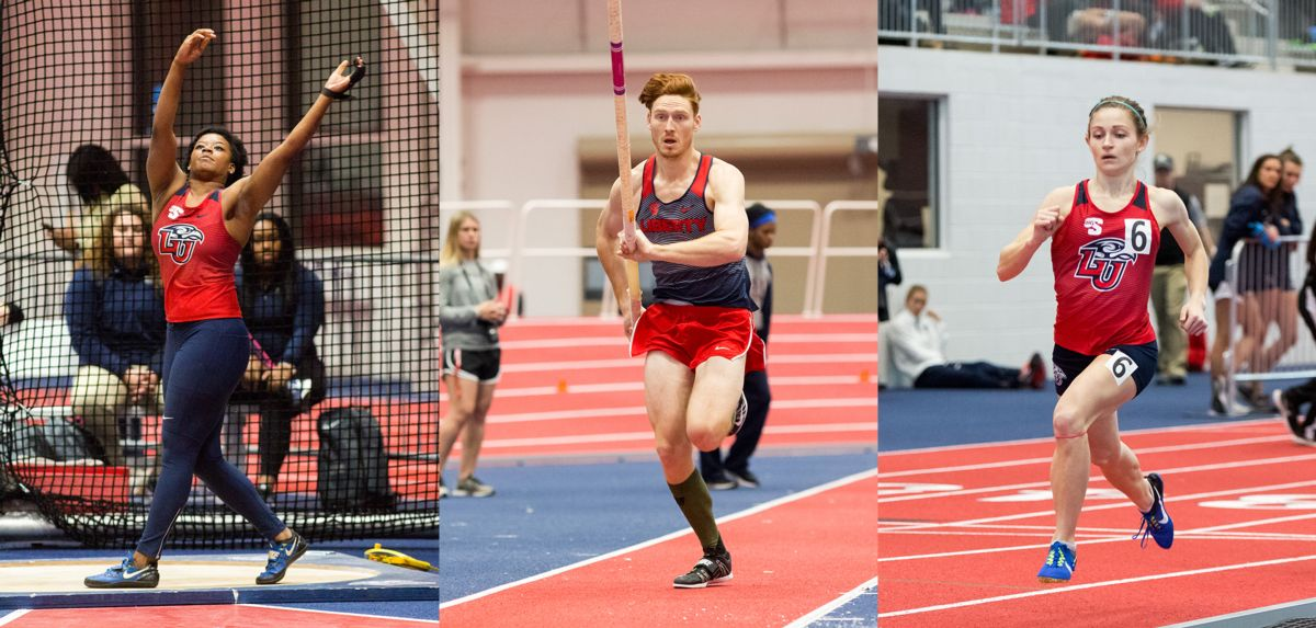 (L-R): Dasiana Larson, Carson Waters and Tanner Ealum each earned Big South Athlete of the Week awards on Wednesday.