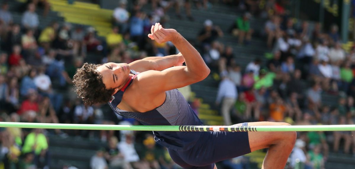 Markus Ballengee high jumped 6-6.25 during his successful opening day on Thursday.