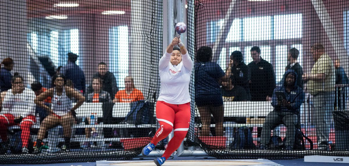 Patria Vaimaona won the women's weight throw with a personal-best 63-7.5 effort.