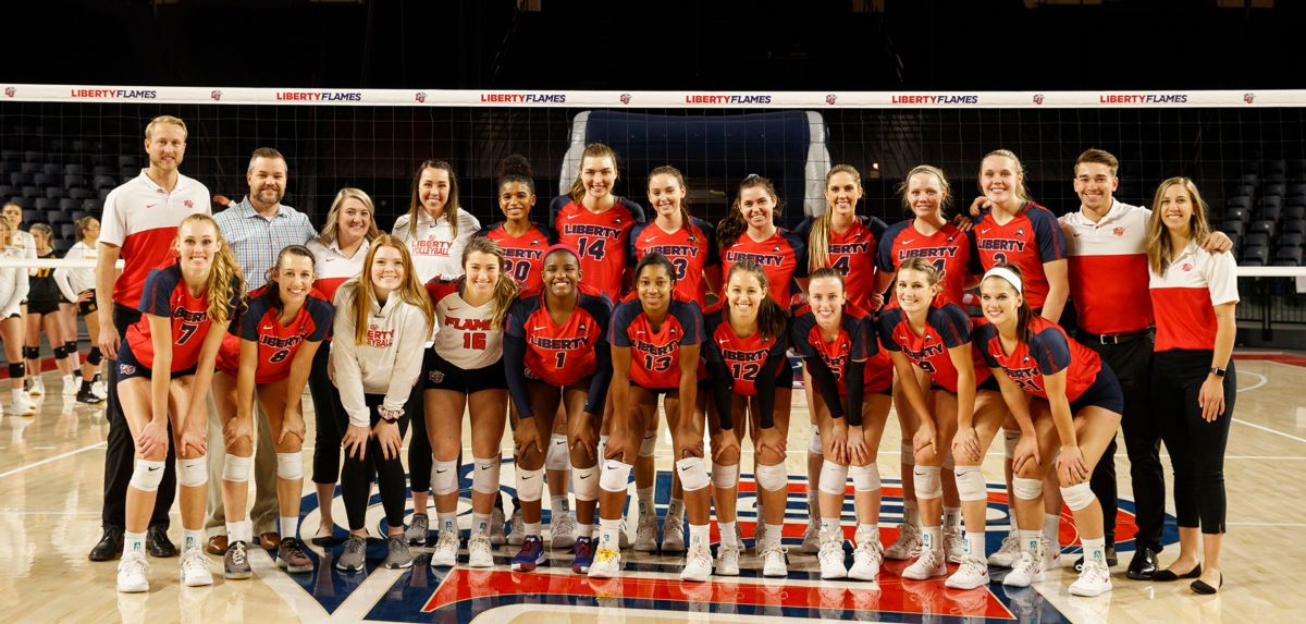 Liberty honored its volleyball seniors on Sunday against Kennesaw State.