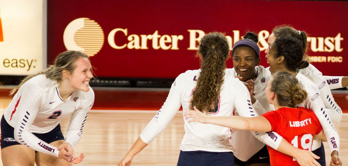 Liberty Volleyball Heads to South Carolina for Matches at Wintrop, CSU