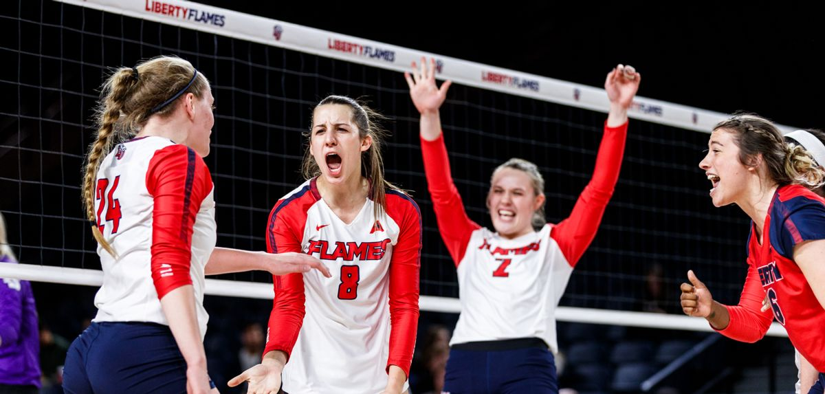 Liberty advanced to the NIVC quarterfinals with a 3-1 win over High Point