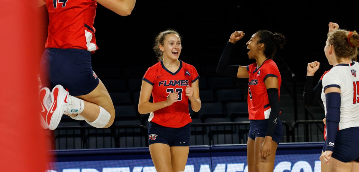 Colgate Rallies to Top Lady Flames in 5 Sets