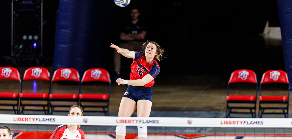 Macy Phillips was one of a program-record four Lady Flames to be named to the VaSID University Division Volleyball All-State Team.