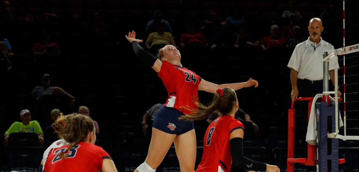 Payton Carter scored a career-high 12 kills on Sunday at Maryland.