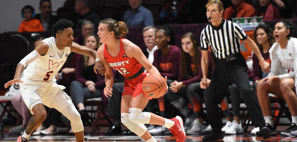 Ashtyn Baker scored nine points during the Lady Flames' 73-69 loss at Virginia Tech on Friday.