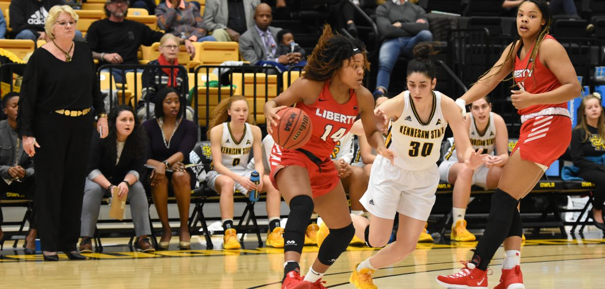 Asia Todd scored 11 of her career-high 24 points during the fourth quarter of a 76-70 victory at Kennesaw State, Monday.