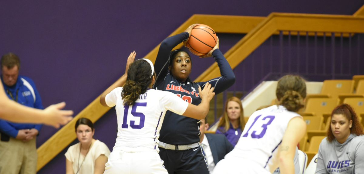 Kierra Johnson-Graham has played well during her first two career meetings with JMU, including a team-high 11 points during the Dukes' most recent visit to the Vines Center.