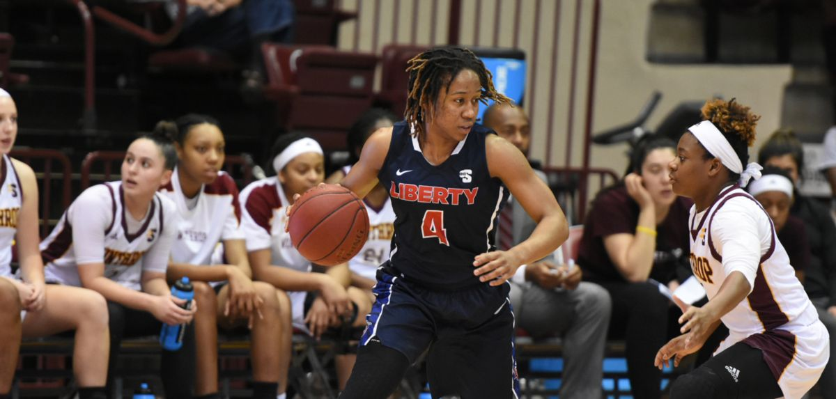 Tatyana Crowder scored nine points during the Lady Flames' 73-53 triumph at Winthrop.