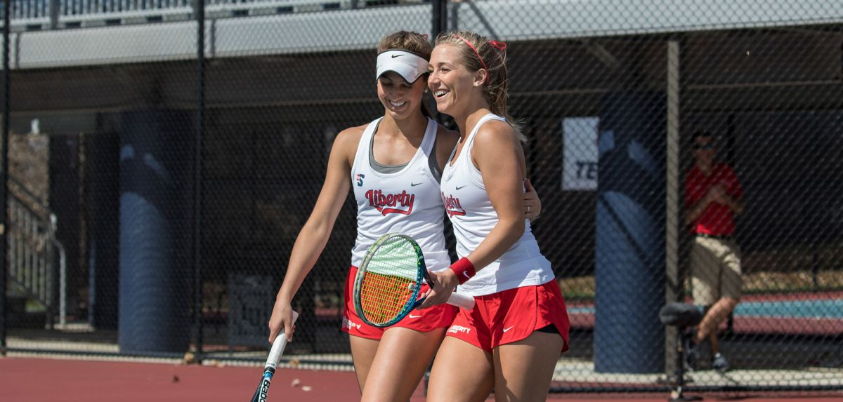 Crist and Dollar helped secure the doubles point for Liberty versus James Madison.