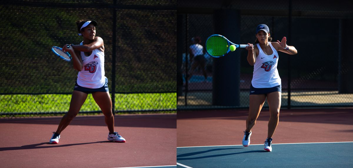 Medina (left) and Soares (right) both won singles titles on Sunday.