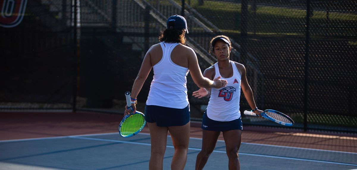 Medina (right) and Soares (left) both won in doubles and singles on Sunday.