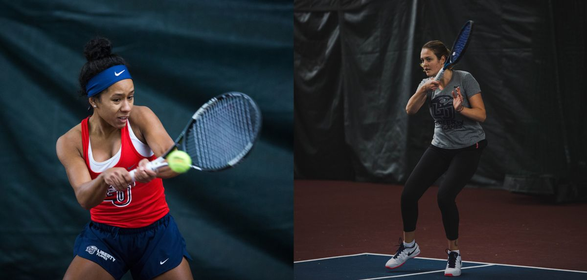 Medina (left) and Miroshnichenko (right) were named Big South Player of the Week and Big South Freshman of the Week, respectively.