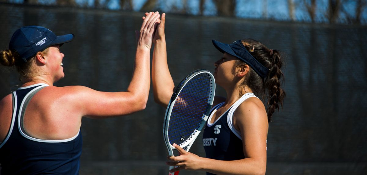 Anderson (left) and Hashiguchi (right) are the fifth-ranked doubles duo in the Atlantic Region.