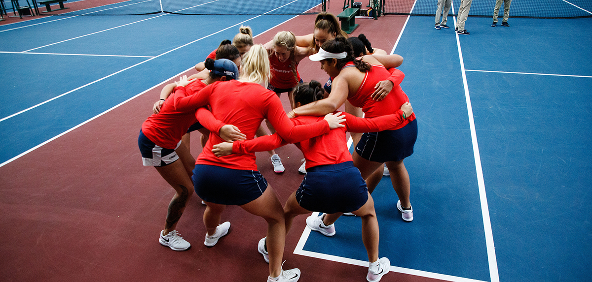 The Lady Flames are receiving the ITA Atlantic Region Community Service Award.