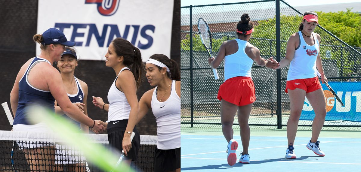 Anderson and Hashiguchi (left) and Medina and Soares (right) were recognized as all-state doubles teams on Thursday.
