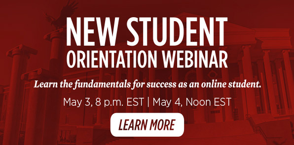 New Student Orientation Webinar, May 3