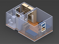 Residential Commons 3D Layout