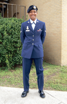Ariel Ruffin competes for Airman of the Year - The Liberty Champion