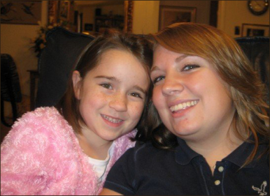 Christmas Gift — Grace Conner Battle (left) pictured with her cousin Cat Hewett (news editor) during their Thanksgiving  celebration in 2007.