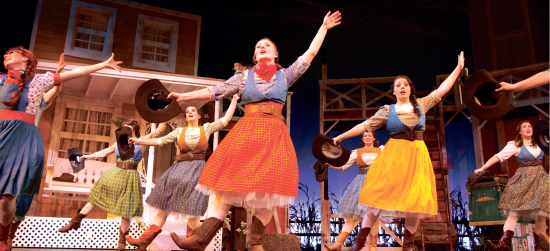 More than OK — The high spirited Oklahoma! opened in the Tower Theater this weekend, providing audience members a night of laughs, music and entertainment. Photo credit: Ruth Bibby